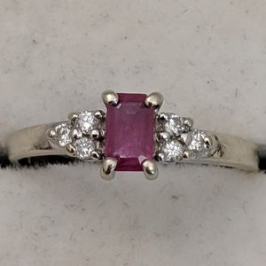 Jewelry - 14k Gold Ruby & Diamond Ring